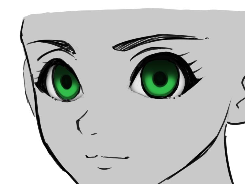 方 の な 描き 綺麗 目 ラノベ風イラストの目の簡単な描き方